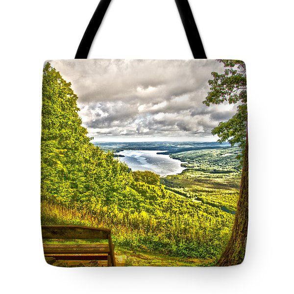 Tote Bag featuring the photograph Honeoye Lake Overlook by William Norton