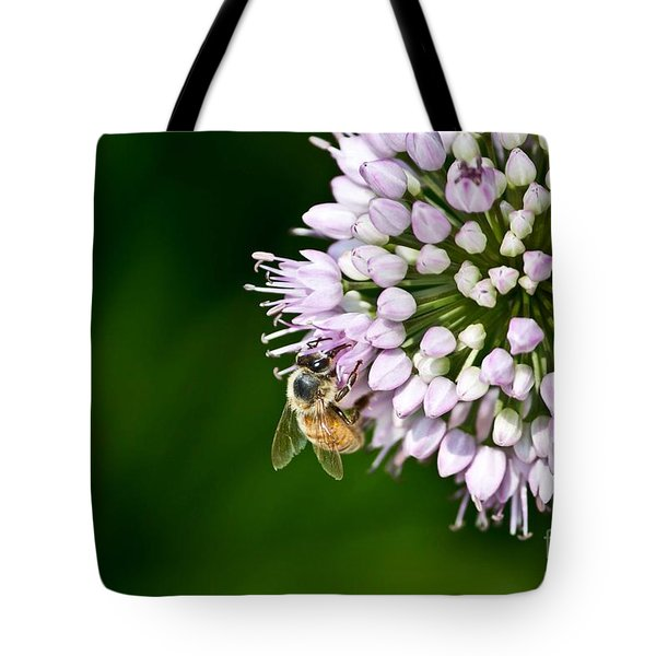 Honey Bee And Lavender Flower Tote Bag