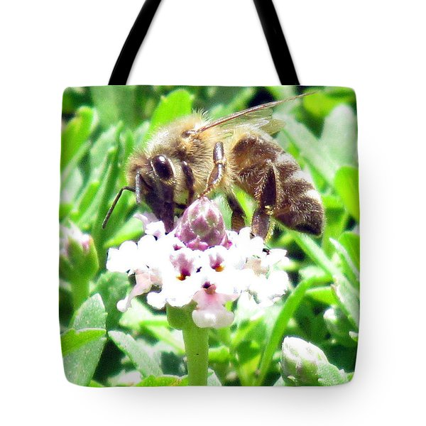Honey Bee At Work Tote Bag