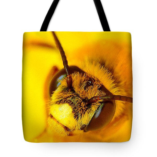 Honey Bee Yellow Tote Bag