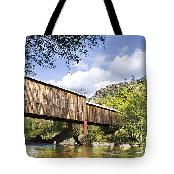Honey Run Covered Bridge Tote Bag