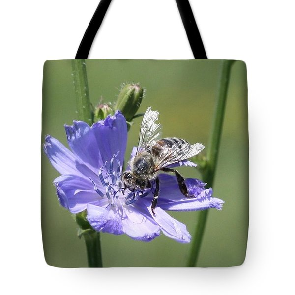 honeybee on Chickory Tote Bag
