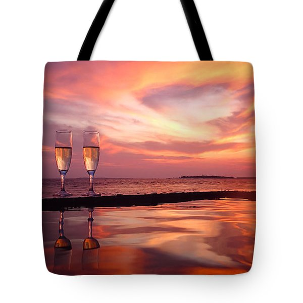 Honeymoon - A Heart In The Sky Tote Bag