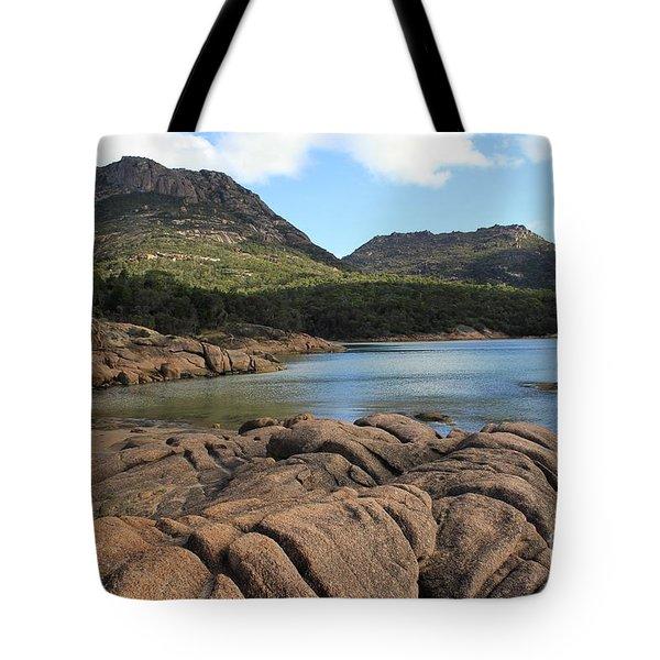 Honeymoon Bay Tasmania All Profits Go To Hospice Of The Calumet Area Tote Bag
