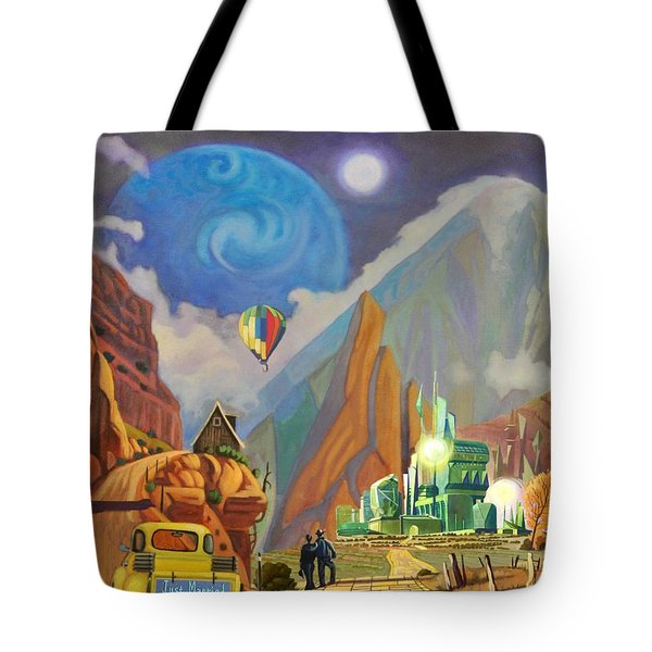 Tote Bag featuring the painting Honeymoon In Oz by Art West
