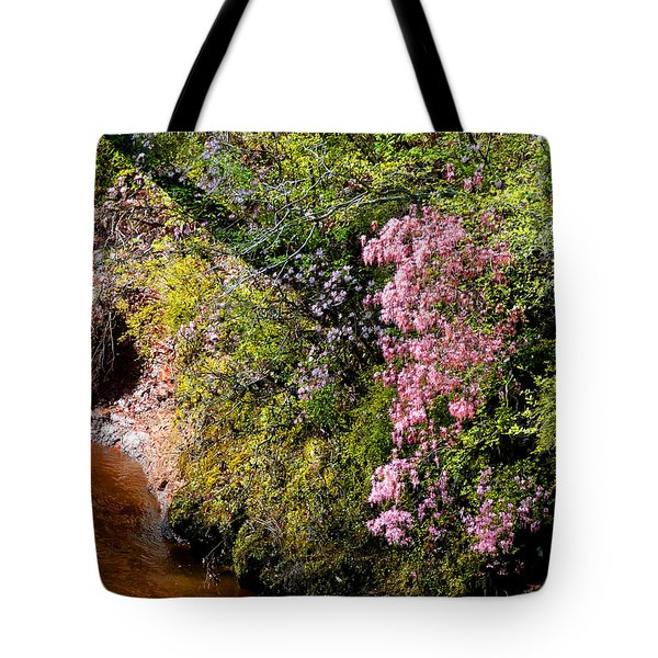 Tote Bag featuring the photograph Honeysuckle On Buckatunna Creek by Lanita Williams