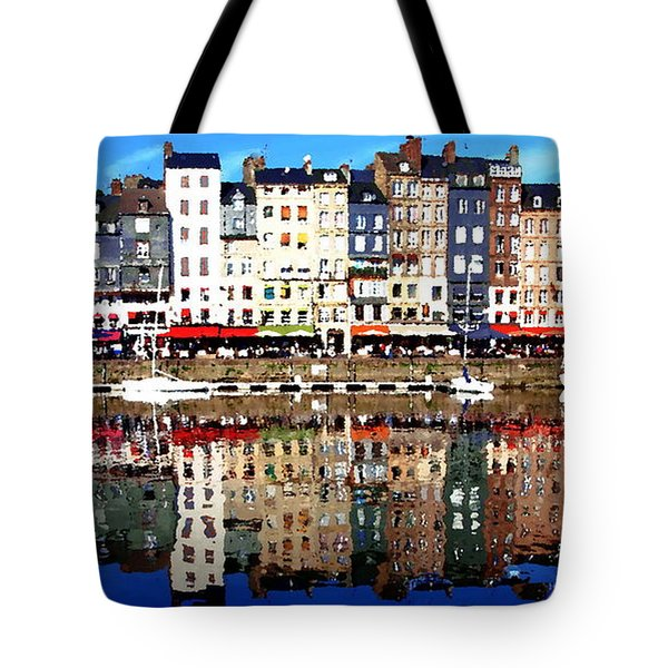 Tote Bag featuring the photograph Long Horizontal Abstract - Honfleur Artists Village  by Jacqueline M Lewis