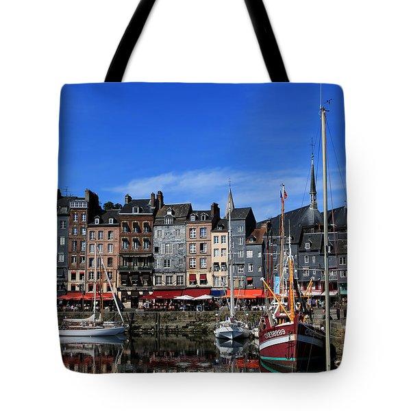 Honfleur France Tote Bag by Tom Prendergast