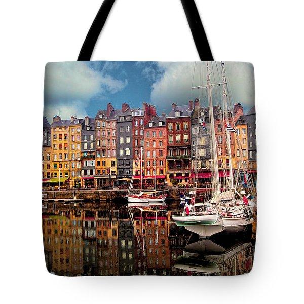 Honfleur Harbor Tote Bag