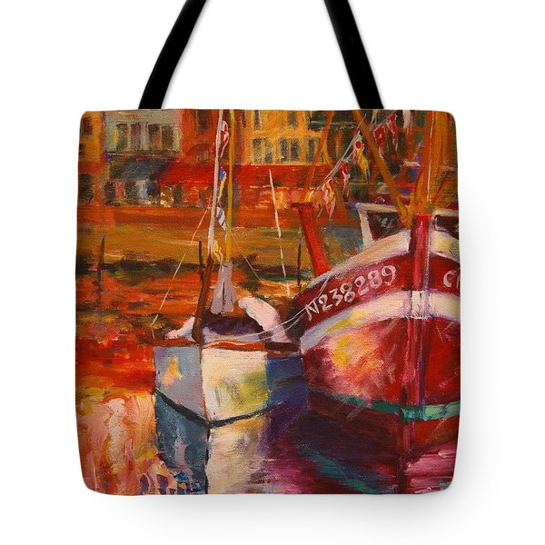 Honfleur Harbor Tote Bag