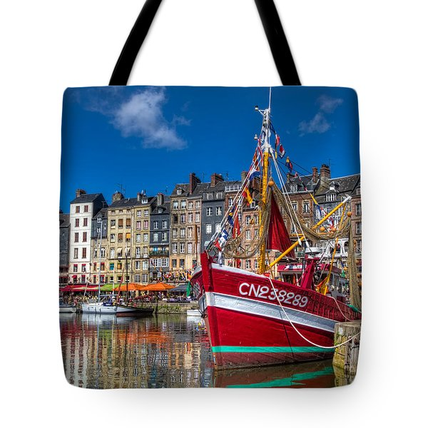 Tote Bag featuring the photograph Honfleur Normandy by Tim Stanley
