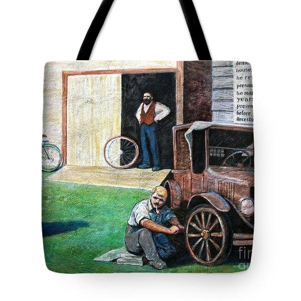 Hong Hing Mural Detail Tote Bag by RicardMN Photography