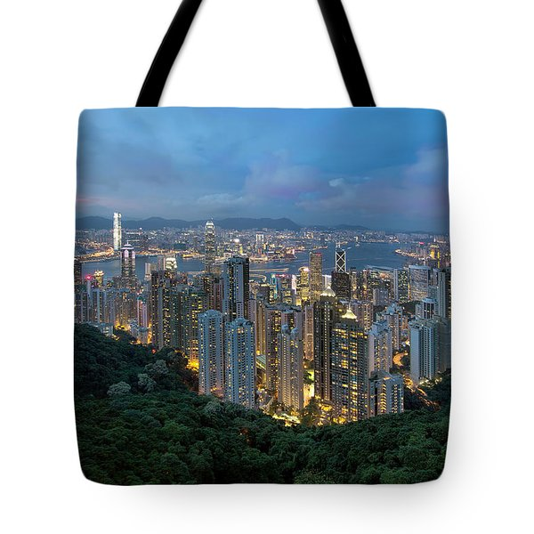 Hong Kong From Sky Terrace 428 At Victoria Peak Tote Bag