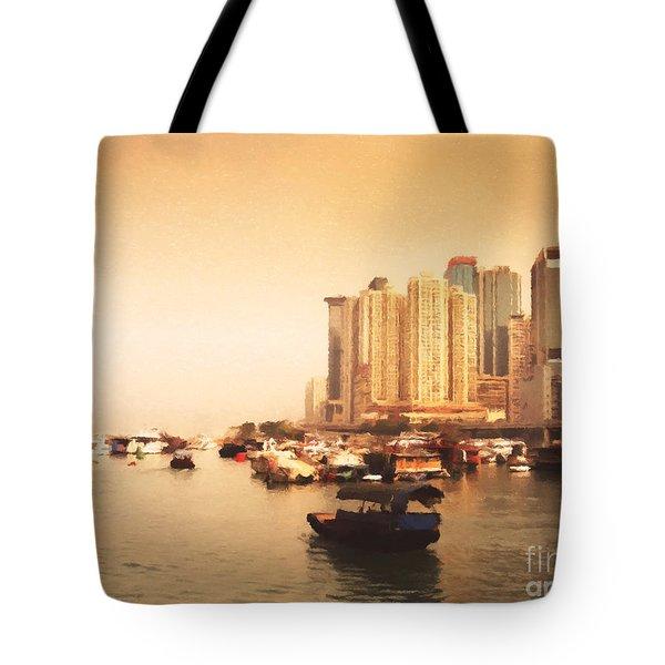 Hong Kong Harbour 02 Tote Bag by Pixel Chimp