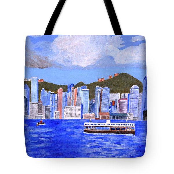 Tote Bag featuring the painting Hong Kong by Magdalena Frohnsdorff