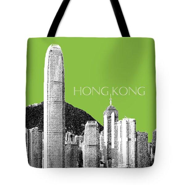 Hong Kong Skyline 1 - Olive Tote Bag