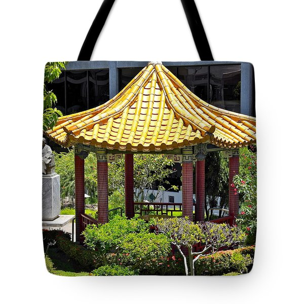 Honolulu Airport Chinese Cultural Garden Tote Bag