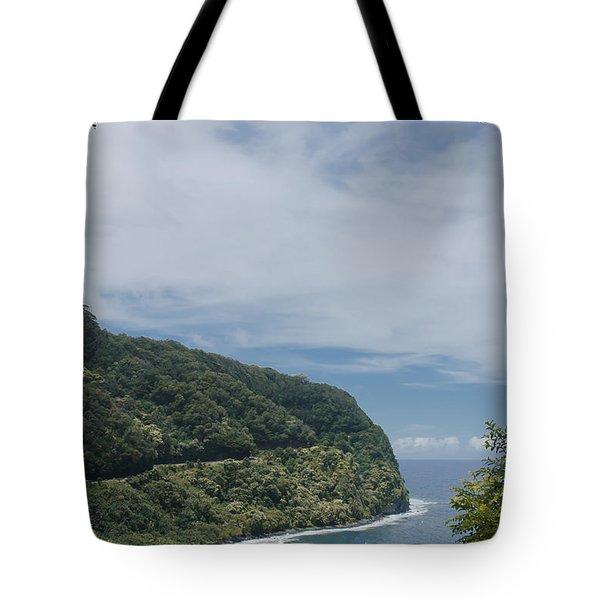 Honomanu - Highway To Heaven - Road To Hana Maui Hawaii Tote Bag by Sharon Mau