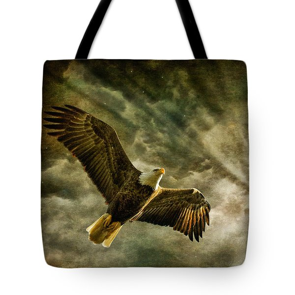 Honor Bound In Blue Tote Bag by Lois Bryan