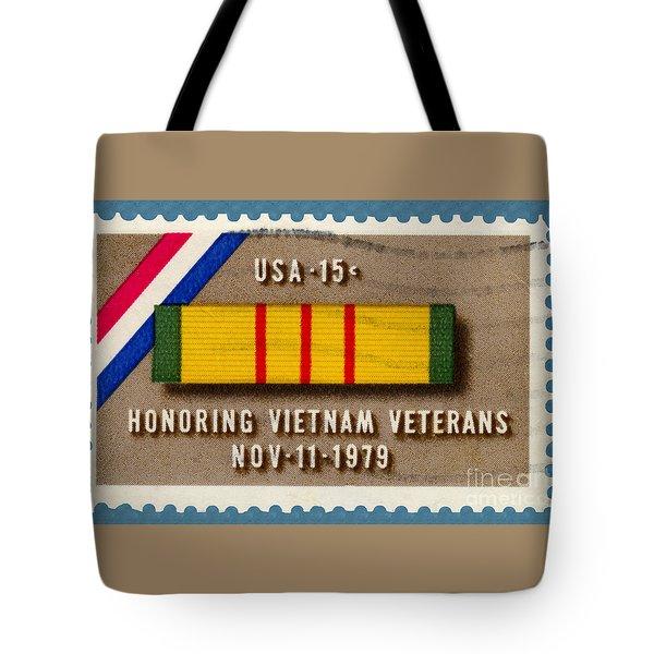 Honoring Vietnam Veterans Service Medal Postage Stamp Tote Bag