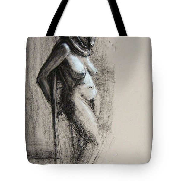Tote Bag featuring the drawing Hood by Gabrielle Wilson-Sealy