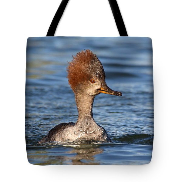 Tote Bag featuring the photograph Hooded Merganser by Ruth Jolly