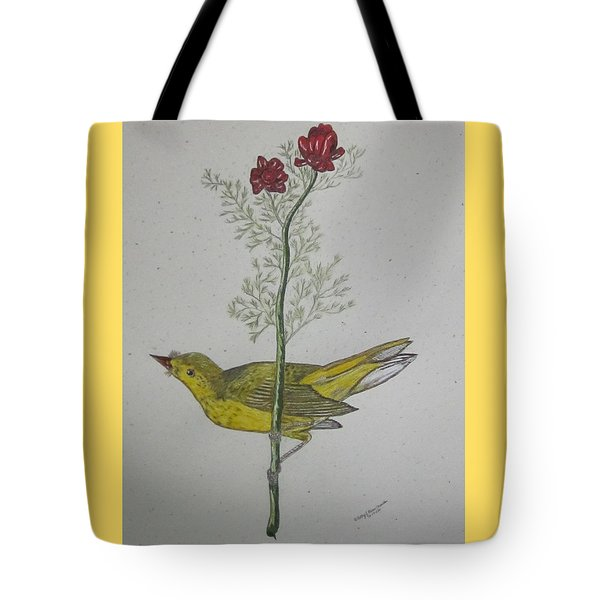 Hooded Warbler Tote Bag by Kathy Marrs Chandler