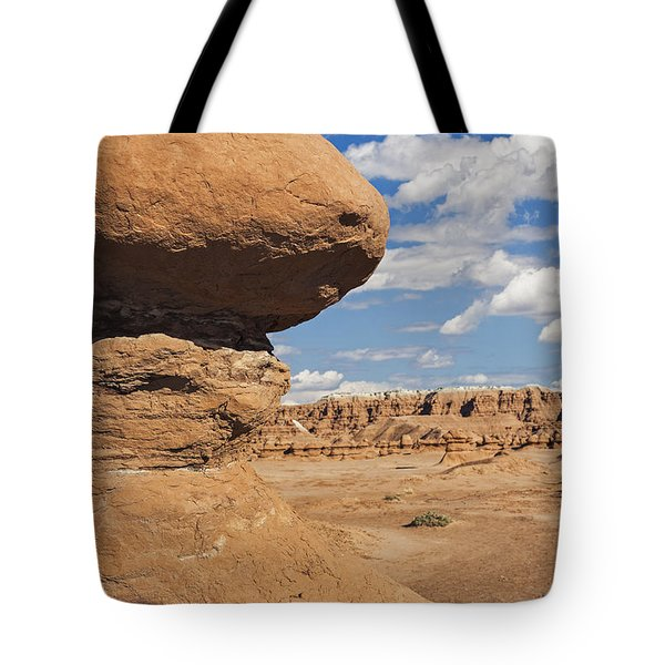 Tote Bag featuring the photograph Hoodoo In Goblin Valley Utah by Bryan Mullennix