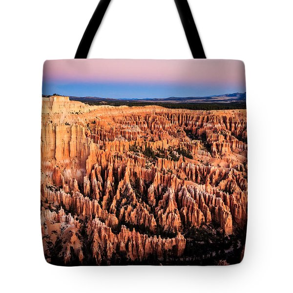 Tote Bag featuring the photograph Hoodoos At Sunrise by Peta Thames