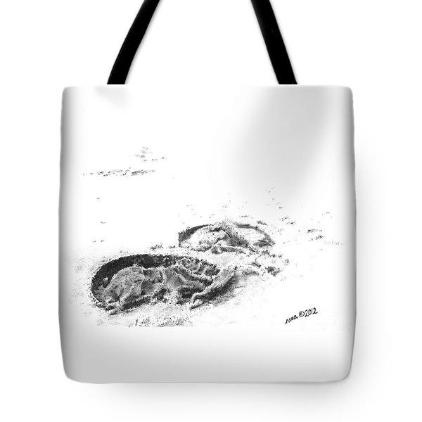 Hoof Prints Tote Bag