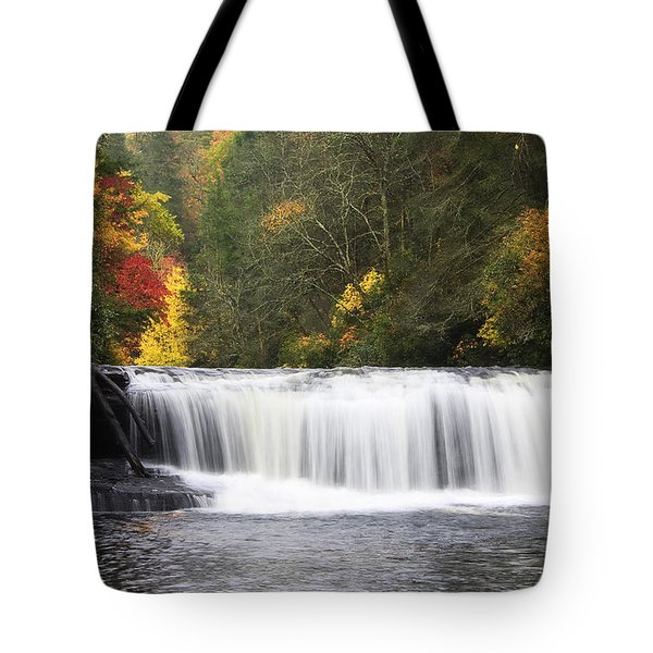 Hooker Falls In North Carolina Tote Bag