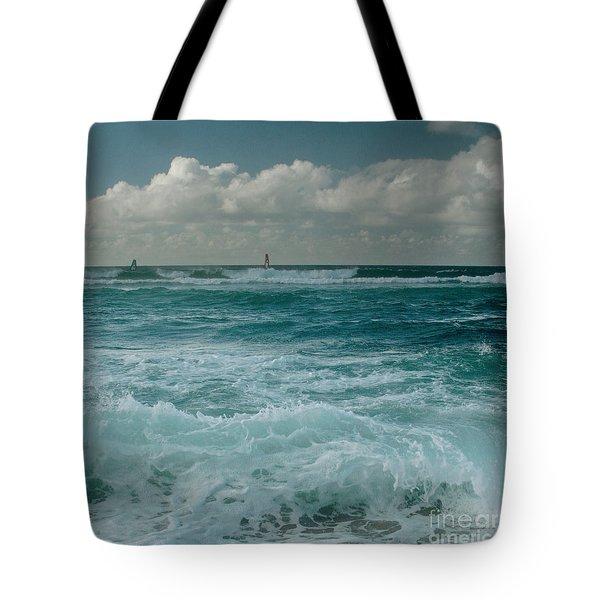 Hookipa Maui North Shore Hawaii Tote Bag by Sharon Mau