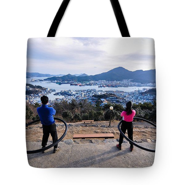 Hoops On The Mountaintop Tote Bag