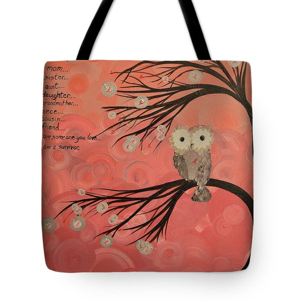 Hoo's Who Care - Find The Cure - Support Breast Cancer Awareness - Hoolandia #383 Tote Bag