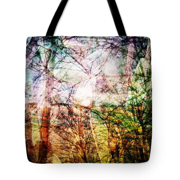 Tote Bag featuring the mixed media Hoosier Country Opus 1 by Sandy MacGowan