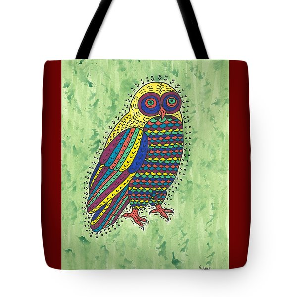 Tote Bag featuring the painting Hoot Owl by Susie Weber