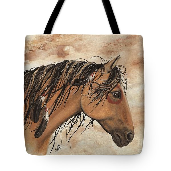 Hopa - Majestic Mustang Series Tote Bag by AmyLyn Bihrle