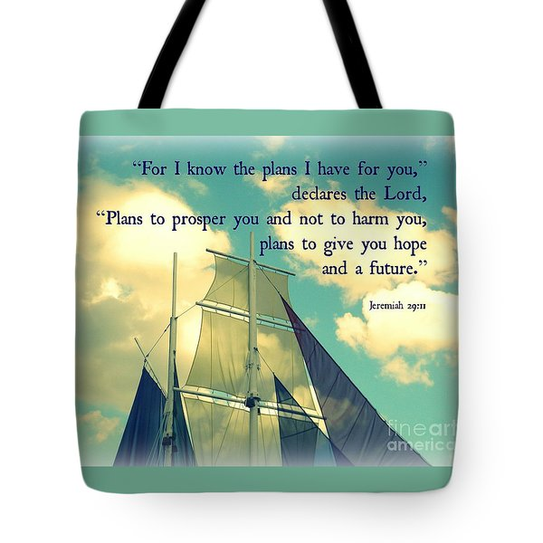 Hope And A Future Tote Bag by Valerie Reeves