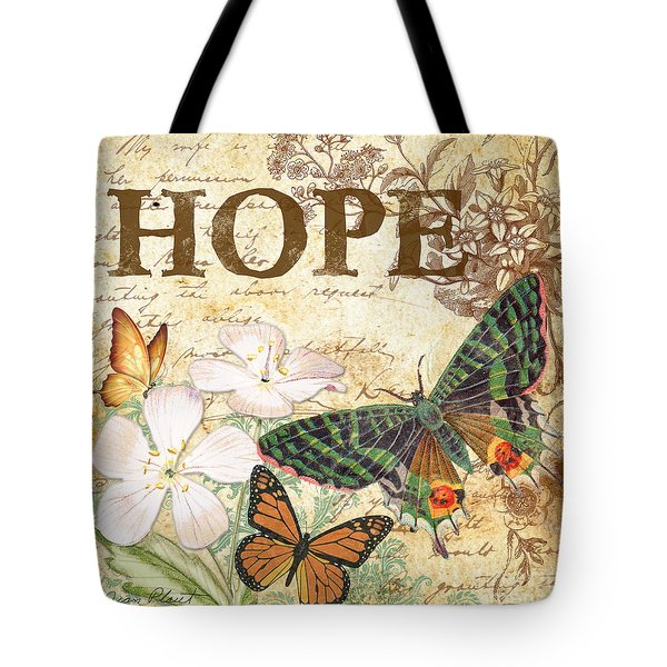 Hope And Butterflies Tote Bag