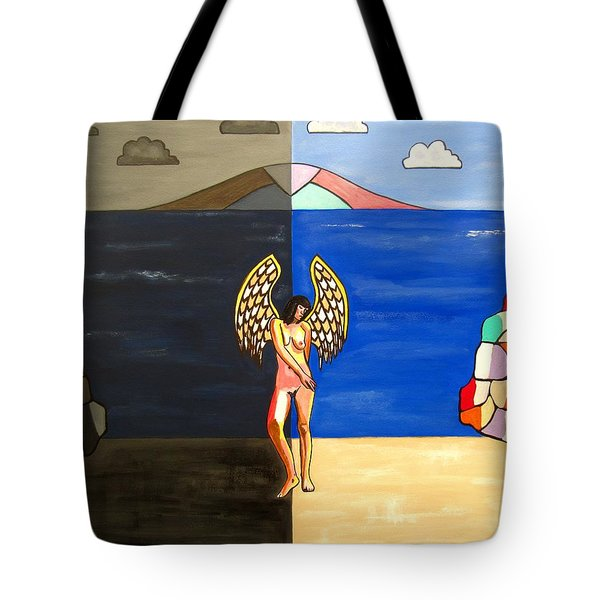 Hope And Despair Tote Bag by Sandra Marie Adams