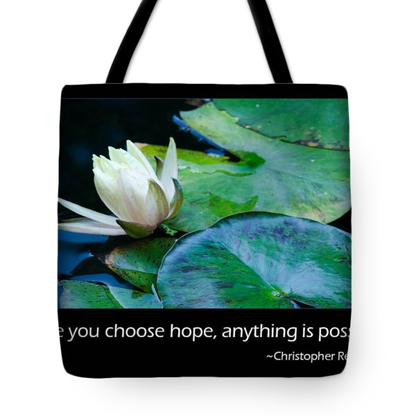 Hope Tote Bag by Don Schwartz