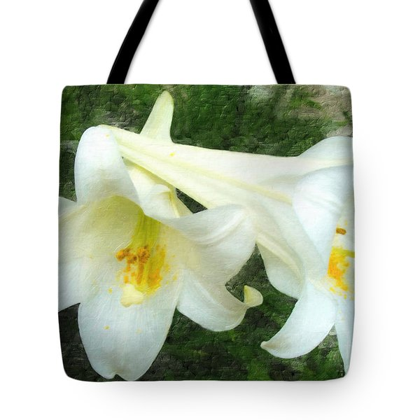 Tote Bag featuring the digital art Hope Is Risen by Lianne Schneider