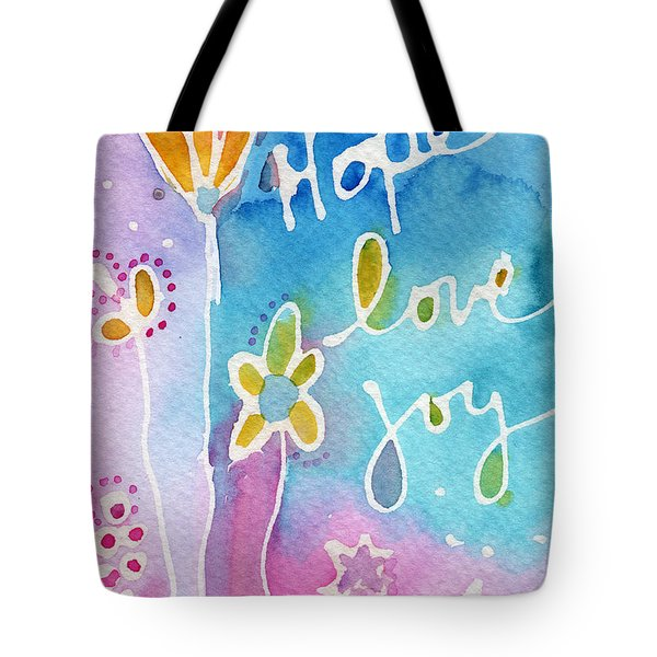 Hope Love Joy Tote Bag