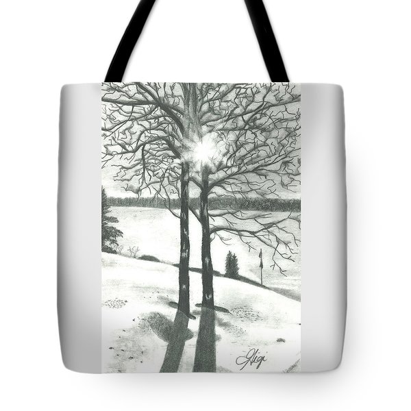 Tote Bag featuring the drawing Hope Of Spring by Gigi Dequanne