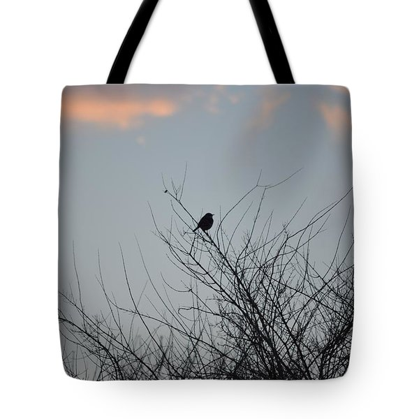 Hope Perched  Atop Tote Bag by Sonali Gangane