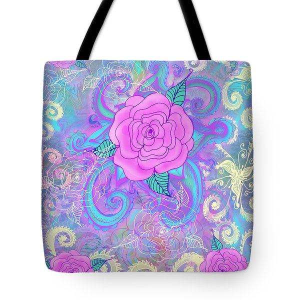Hope Roses Tote Bag by Alixandra Mullins