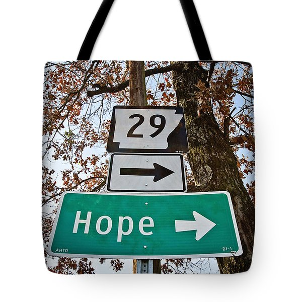 Hope Tote Bag by Scott Pellegrin
