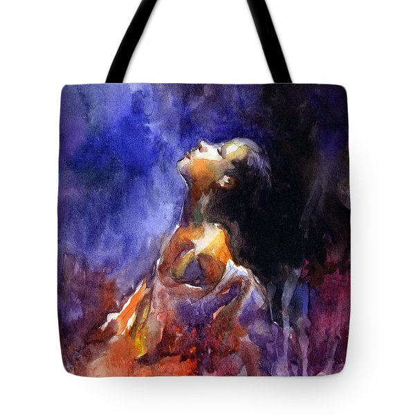 'hope' Woman Portrait  Tote Bag