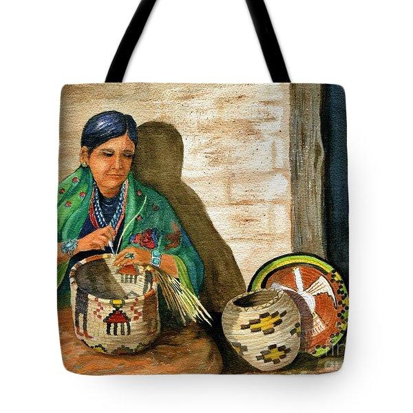 Hopi Basket Weaver Tote Bag by Marilyn Smith