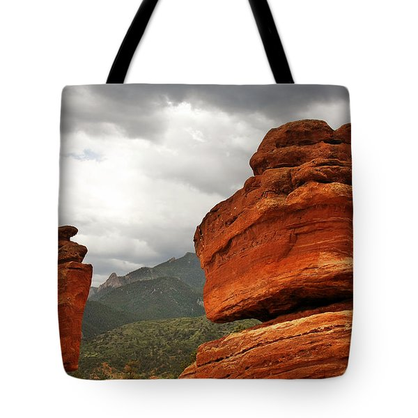 Hoping For Rain - Garden Of The Gods Colorado Tote Bag by Christine Till